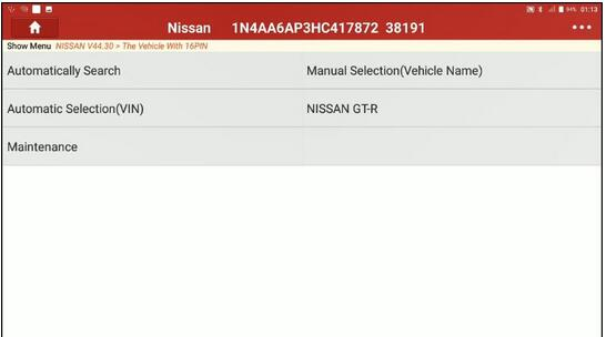 Decel G Sensor Calibration for Nissan Maxima 2017 by Launch X431 1