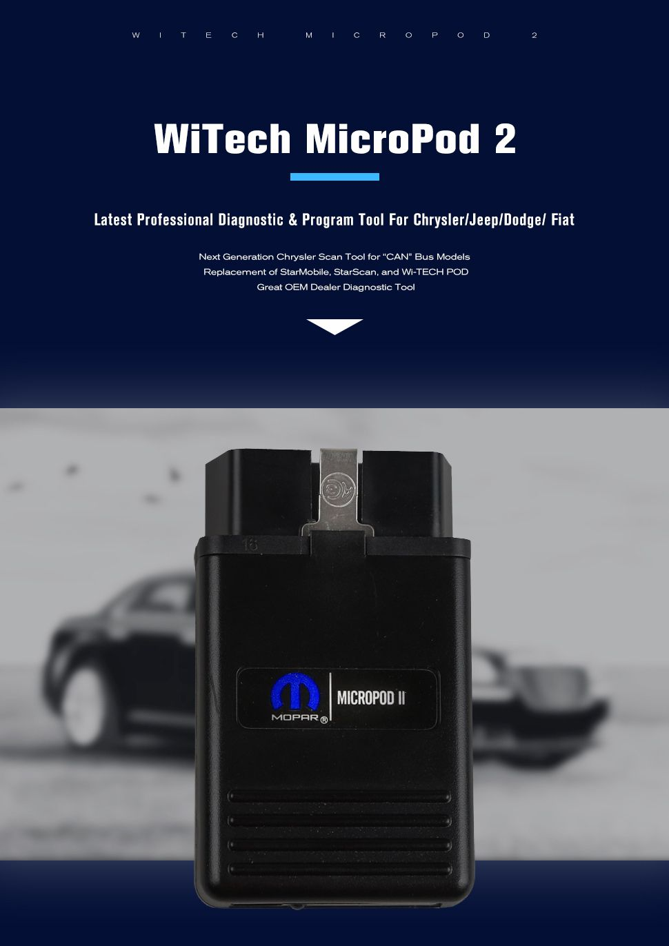 New Chrysler Witech Micropod Ii Vci With V17 04 27 -5